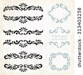 vintage design elements and... | Shutterstock .eps vector #313403258