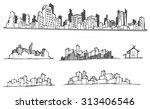 cityscape vector illustration... | Shutterstock .eps vector #313406546