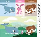 cute animals collections whale... | Shutterstock .eps vector #313414850