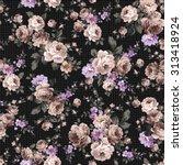 rose flower pattern | Shutterstock .eps vector #313418924
