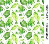 tropical seamless pattern | Shutterstock . vector #313423088