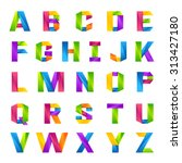 fun english alphabet one line...   Shutterstock .eps vector #313427180