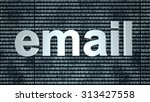 email binary background. 3d... | Shutterstock . vector #313427558