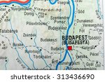 map view of budapest | Shutterstock . vector #313436690