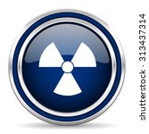 radiation blue glossy web icon... | Shutterstock . vector #313437314