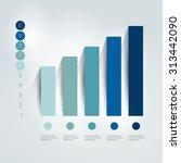 flat chart  graph. simply... | Shutterstock .eps vector #313442090