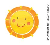 cartoon sun with a smile | Shutterstock .eps vector #313445690
