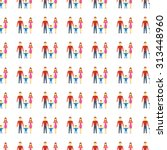 family vector icon seamless... | Shutterstock .eps vector #313448960