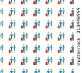 family vector icon seamless... | Shutterstock .eps vector #313448999