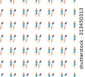 family vector icon seamless... | Shutterstock .eps vector #313450313