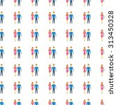 man and woman vector icon...   Shutterstock .eps vector #313450328