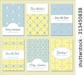 set of printable cards in... | Shutterstock .eps vector #313450838
