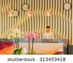 hotel lobby with modern design | Shutterstock . vector #313453418