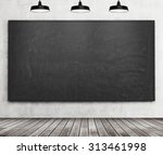 a stylish room with black... | Shutterstock . vector #313461998