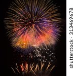 big colorful fireworks explode... | Shutterstock . vector #313469678