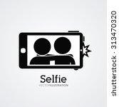 selfie digital design  vector... | Shutterstock .eps vector #313470320