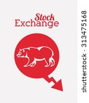 stock exchange  digital design  ... | Shutterstock .eps vector #313475168