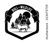 bull digital design  vector... | Shutterstock .eps vector #313475759