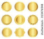 set of different gold approval... | Shutterstock . vector #313476548