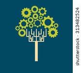 gear tree | Shutterstock .eps vector #313482524