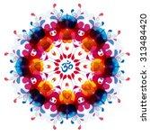modern yoga mandala  tribal... | Shutterstock .eps vector #313484420
