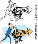 we're moving  | Shutterstock .eps vector #313487816