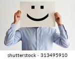 career happiness with employee... | Shutterstock . vector #313495910