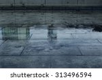 puddle of water in rainy day. | Shutterstock . vector #313496594