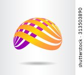 abstract vector sign in sphere...   Shutterstock .eps vector #313503890