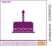 vector icon cake | Shutterstock .eps vector #313504910