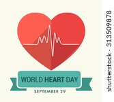 vector illustration world heart ... | Shutterstock .eps vector #313509878