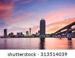 kobe  japan skyline at the port   Shutterstock . vector #313514039