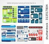 mega web design navigation pack ... | Shutterstock .eps vector #313517804