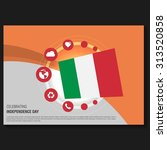 vector italy independence day... | Shutterstock .eps vector #313520858