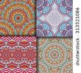 seamless patterns. vintage... | Shutterstock .eps vector #313521086