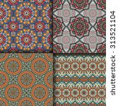 seamless patterns. vintage... | Shutterstock .eps vector #313521104