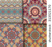 seamless patterns. vintage... | Shutterstock .eps vector #313521170
