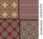 seamless patterns. vintage... | Shutterstock .eps vector #313521470