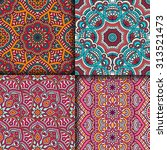 seamless patterns. vintage... | Shutterstock .eps vector #313521473