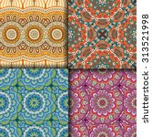 seamless patterns. vintage... | Shutterstock .eps vector #313521998
