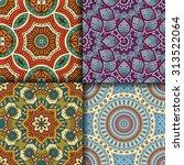 seamless patterns. vintage... | Shutterstock .eps vector #313522064