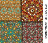 seamless patterns. vintage...   Shutterstock .eps vector #313522160