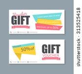 voucher  gift certificate ... | Shutterstock .eps vector #313525418