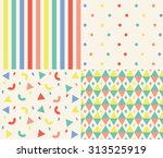 vector set of cute colorful...