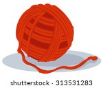 Stock vector ball of yarn 313531283