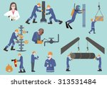 oilman  gasman or oil and gas... | Shutterstock .eps vector #313531484