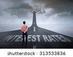 businessman standing on an... | Shutterstock . vector #313533836