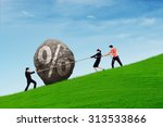 business people work together... | Shutterstock . vector #313533866