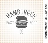 restaurant  cafe. hamburger.... | Shutterstock .eps vector #313534520