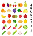 vector vegetables and fruits... | Shutterstock .eps vector #313534844